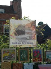 The Cobham Art Group display