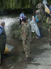 Army Cadets collecting the ducks to take them back to their home until next year