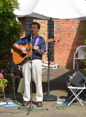 Live music provided by Steve Poole in the Church Stile House Garden